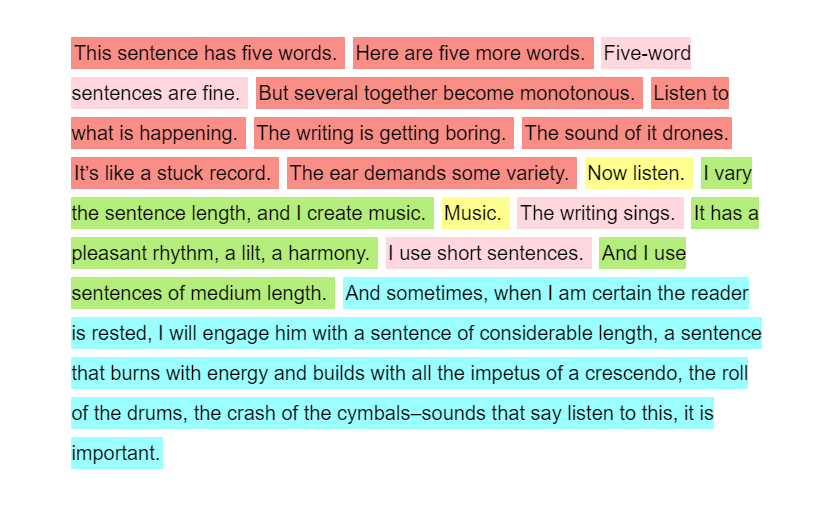 Sentence Length Colorizer for Microsoft Word